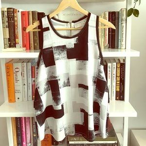 Anthropologie Color Block Sleeveless Top